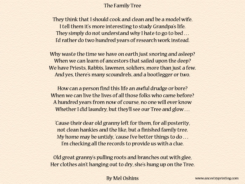Family Tree By Mel Oshins Msfrommsproject